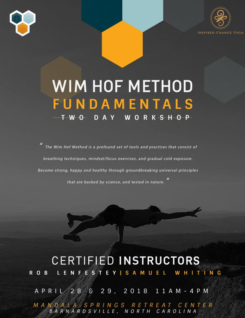 Wim Hof Method April 28-29 2018 @ Mandala Springs | Barnardsville | North Carolina | United States